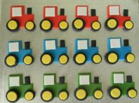 12 Tractor Cupcake Toppers